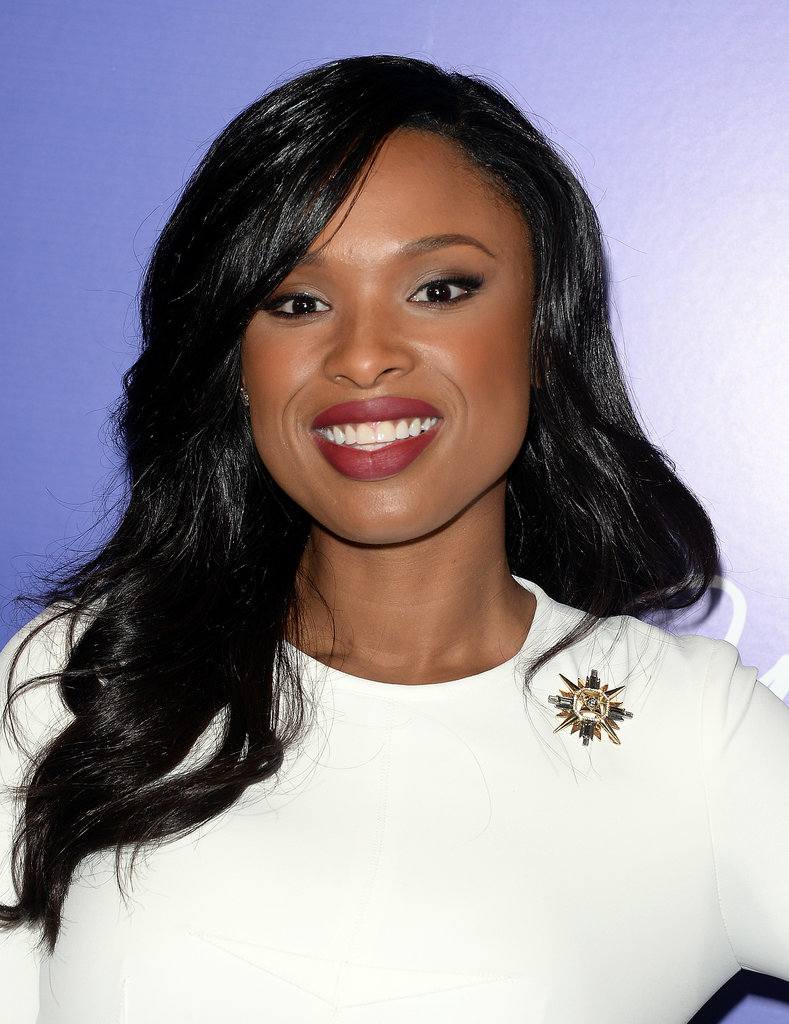 We loved Jennifer Hudson's moody wine lip.