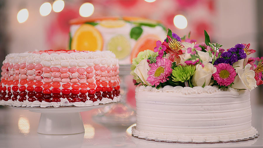 Three Stunning Ways to Dress Up a Store-Bought Cake