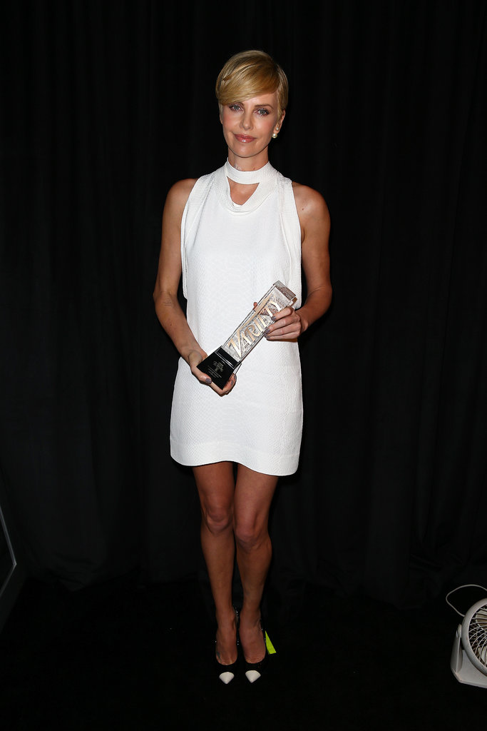 Charlize Theron accepted an award at the event.
