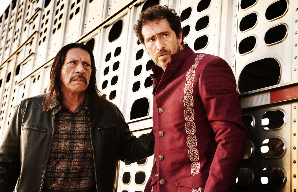 Danny Trejo and Demián Bichir in Machete Kills. Source: Open Road Films