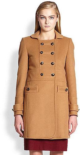 Marc by Marc Jacobs Nicoletta Double-Breasted Wool Coat