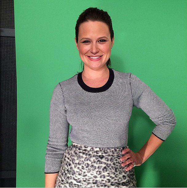 Katie Lowes stepped in front of the green screen for People. Source: Instagram user peoplemag