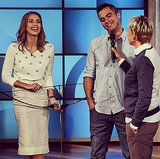 Jessica Alba was armed and ready for Ellen. Source: Instagram user theellenshow