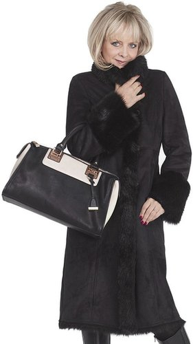 Twiggy for M&S Collection Long Faux Shearling Coat