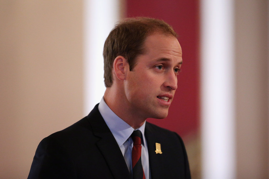 Prince William spoke in the ballroom of Buckingham Palace ahead of the first match ever played on the palace grounds.