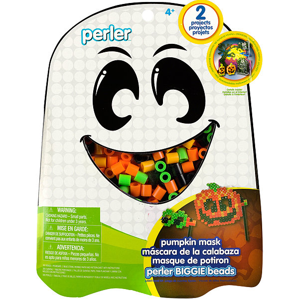 Perler Pumpkin Mask Biggie Beads Activity Kit