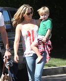 Ali Larter ran errands with her son, Thoedore, on Saturday.