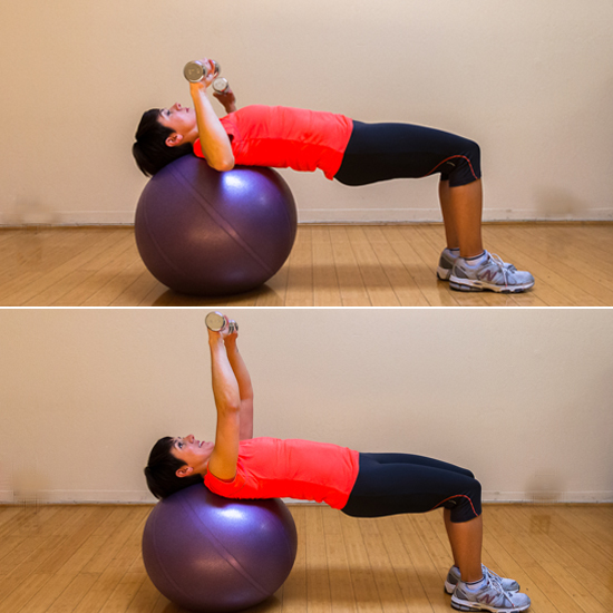 Stability Ball Upper Body Workout: Chest Press On Exercise Ball