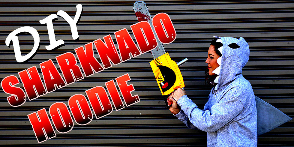 Sharknado Lives! Make Your Own DIY Hoodie For Halloween