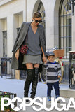Miranda Kerr wore knee-high boots.