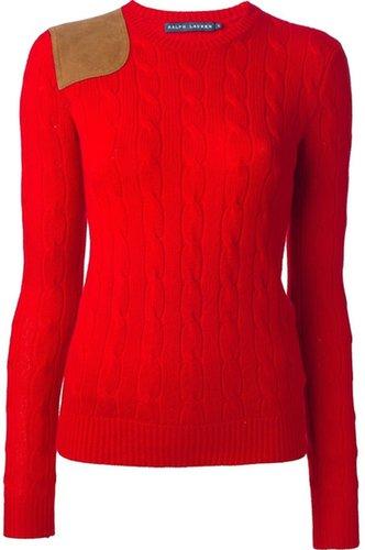 Ralph Lauren Blue cable knit sweater