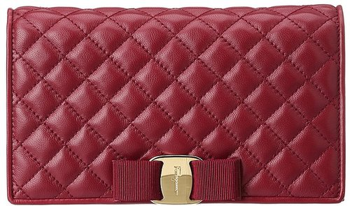 Salvatore Ferragamo - Quilted Vara Mini Wallet Bag (Nero) - Bags and Luggage