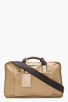 MARC BY MARC JACOBS Tan YES WE CAN-VAS BOXY DUFFLE Bag