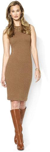 Lauren Ralph Lauren Dress, Sleeveless Leather-Trim