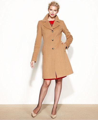 Anne Klein Petite Coat, Wool-Cashmere-Blend Walker