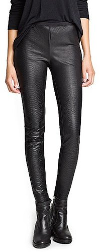 Faux crocodile skin leggings