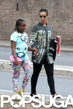 Alicia Keys took a young friend to Rome, Italy.