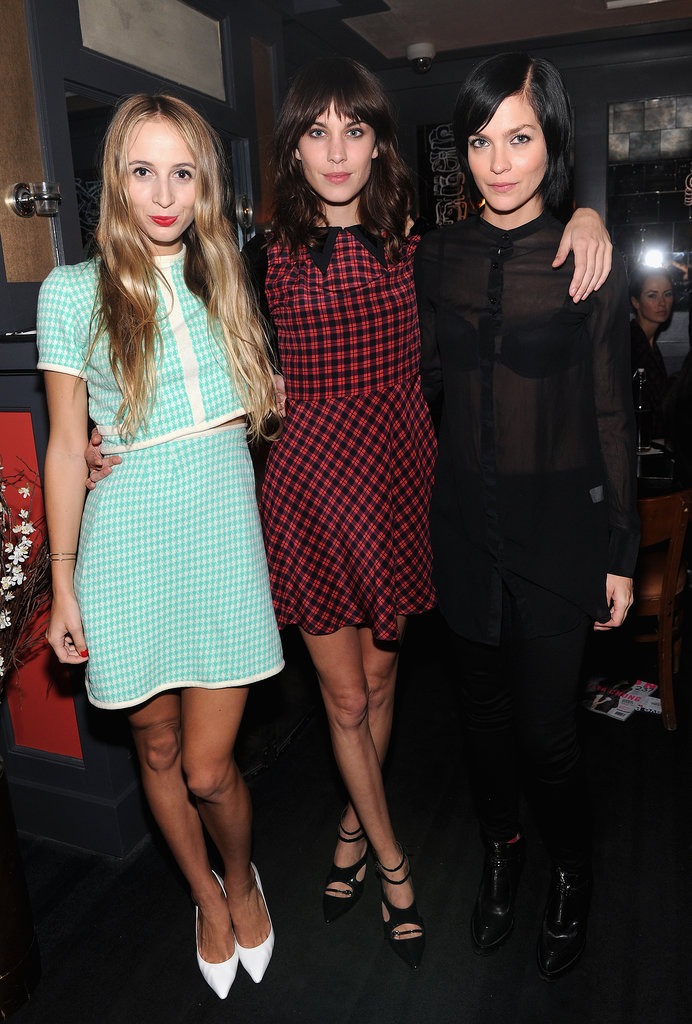 To celebrate her Nylon cover at La Cenita, Alexa Chung invited friends like Harley Viera-Newton and Leigh Lezark.