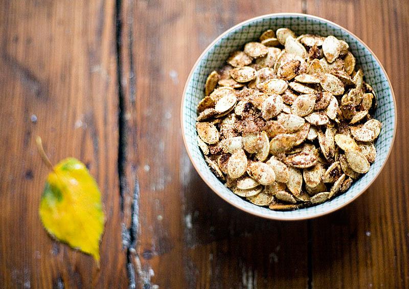 Cinnamon-Sugar Roasted Pumpkin Seeds