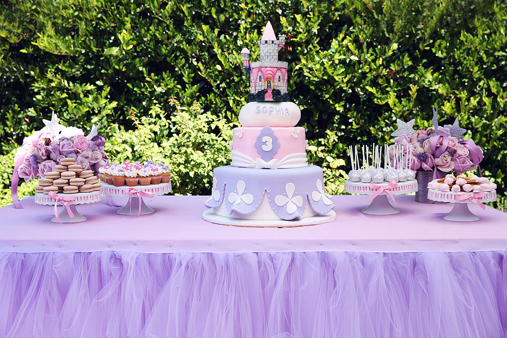 Sofia The First Birthday Table Decorations Photograph Prin