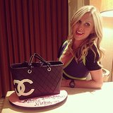 Nicky Hilton celebrated her birthday with a Chanel handbag cake. Source: Instagram user nickyhilton