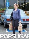Emily Blunt went grocery shopping in LA.
