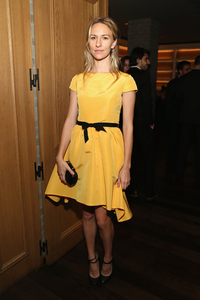 Mickey Sumner stood out from the crowd in a high-contrast cocktail dress at The Lunchbox Fund's Fall fete.