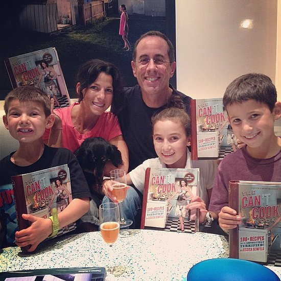 The Seinfeld family prepared for the release of mama Jessica's new cookbook.  Source: Instagram user jessseinfeld