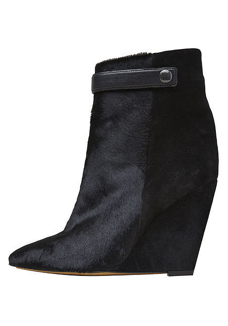 Calf-Hair Wedge Boot