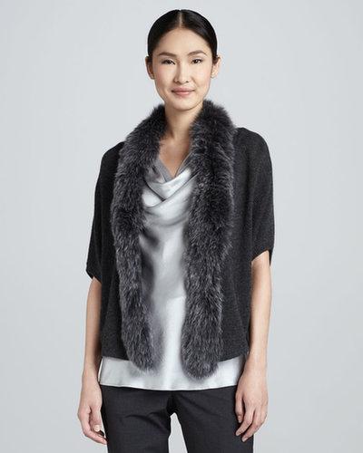 Magaschoni Fur-Trim Cashmere Sweater