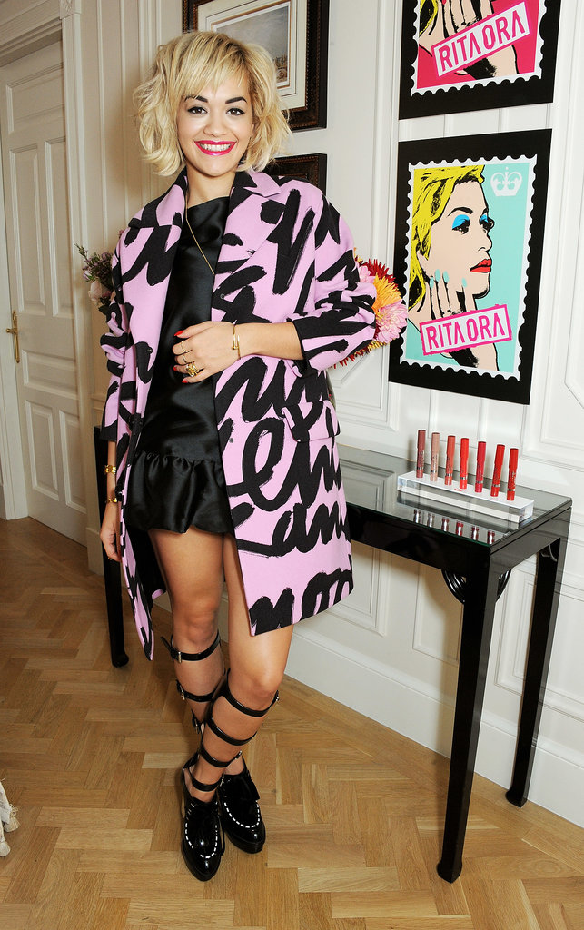 Rita Ora attended the Rimmel London 180 Years of Cool photocall.