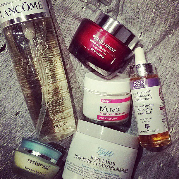 Lucky Magazine editor in chief Eva Chen presented her nighttime skin care regimen. Source: Instagram user evachen212