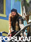 Antonio Banderas was fully dressed in pirate gear on the set of Spongebob Squarepants 2 on Wednesday in Savannah, GA.