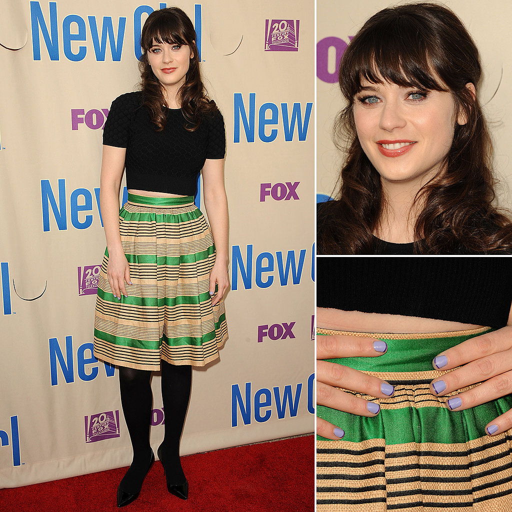 Zooey Deschanel's quirky nail art and classic coif make for the perfect Halloween costume, and our social media followers agree.