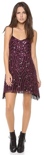 Free people Beaded Mesh Cocktail Dress
