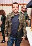 Michael Carl went casual in camouflage at the COS Opening Ceremony preview.