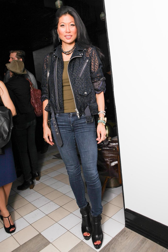 Monika Chiang helped open New York's Bar Nana in casual denim.