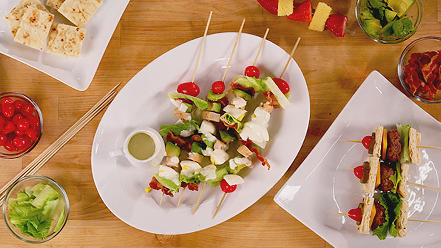 Cobb Salad Skewers