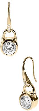 Michael Kors  Padlock Drop Earrings, Golden