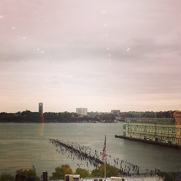 Not a bad view from the Helmut Lang showroom, don't you think?