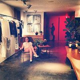 Amid the one-year celebration at Isabel Marant's LA boutique, Zoe Lister Jones took a second to unwind. Source: Instagram user zoelisterjones