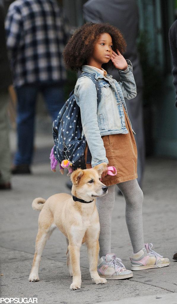 We Got Annie! Quvenzhané Wallis and Jamie Foxx Film in NYC