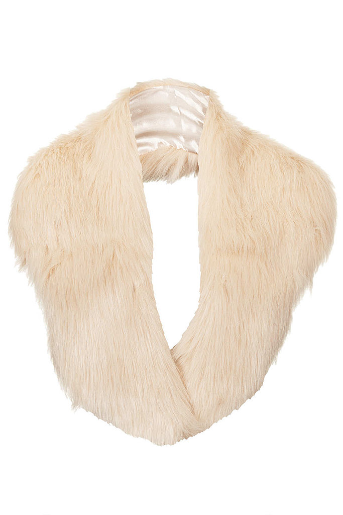 Cover up with Topshop's fur stole ($50) — not only is it stylish, but it's super cozy, too.