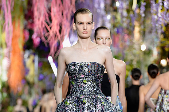 This is how the flower-filled runway was created for the Dior Spring 2014 collection.
