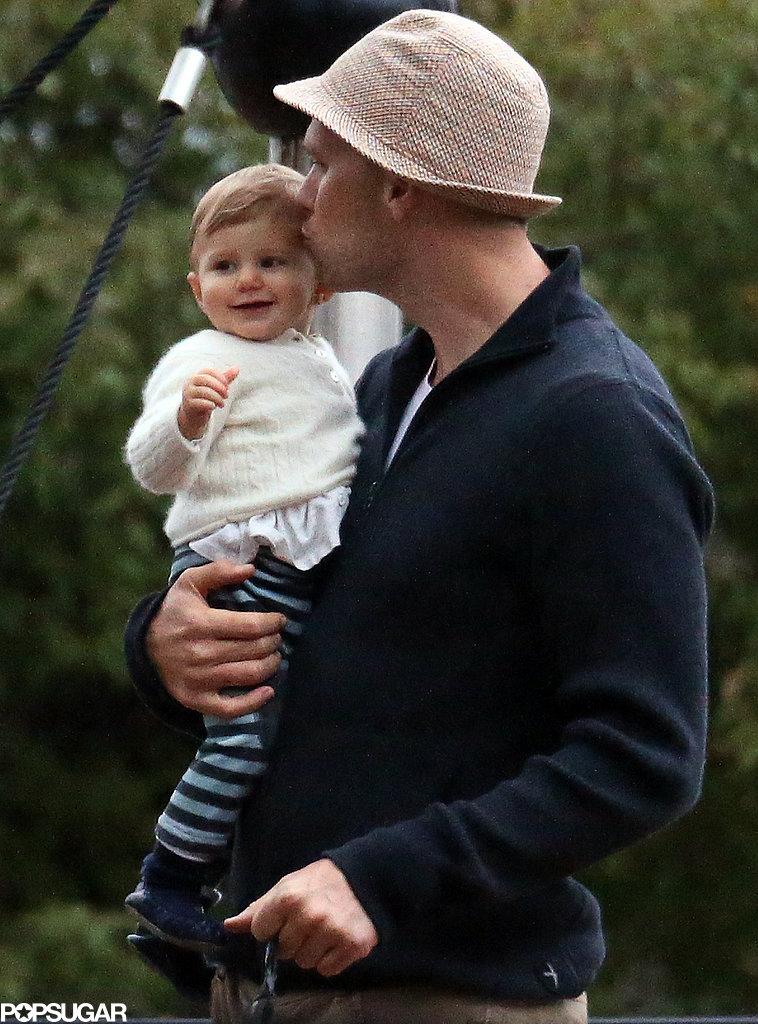 Tom Brady kissed his baby girl, Vivian.