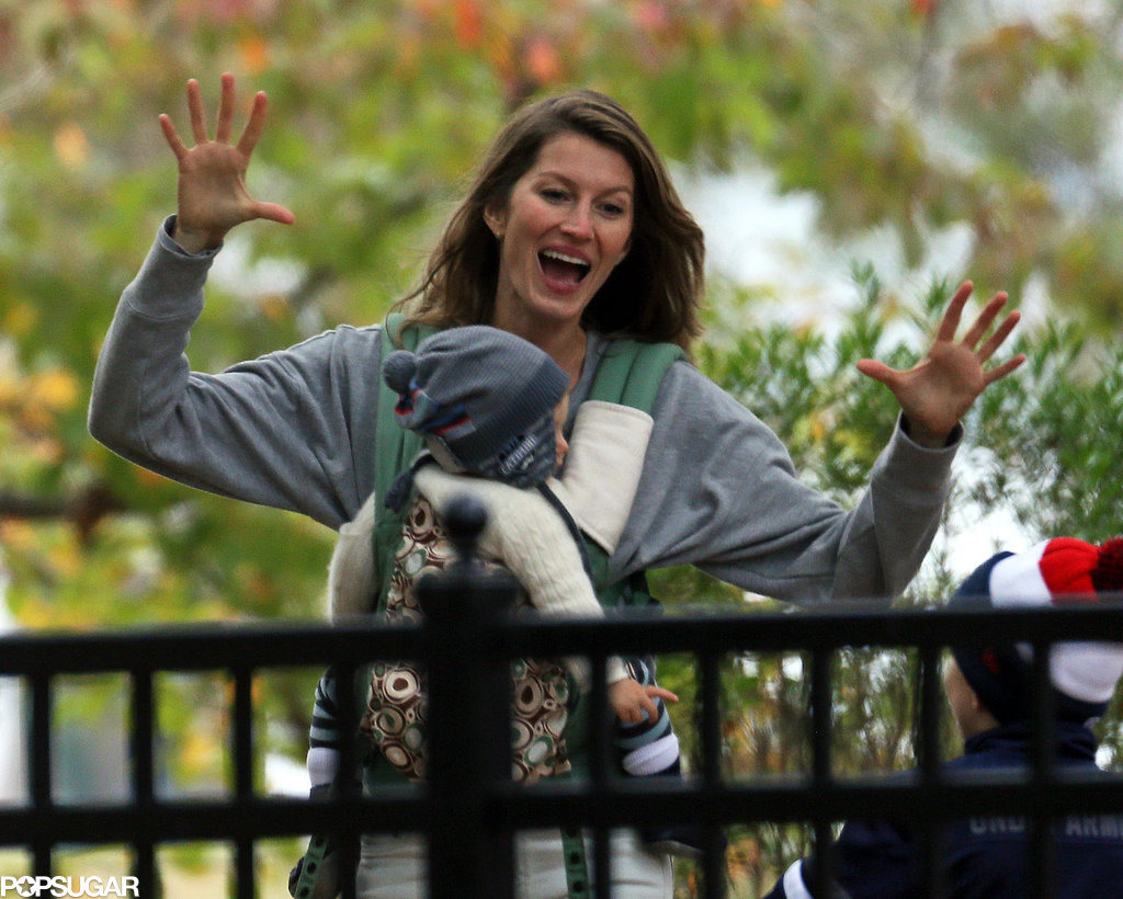 Gisele Bündchen got animated with her kids at the park.