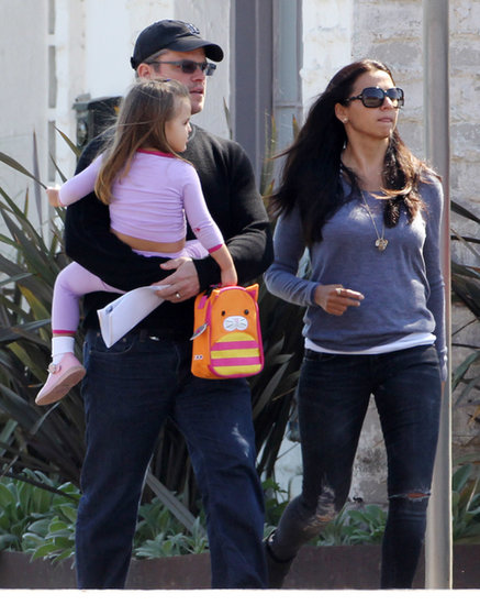 Matt Damon was out and about in LA with his wife, Luciana Damon, and daughter Stella.