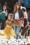 Jessica Alba brought her daughter Honor Warren to the pumpkin patch in LA.