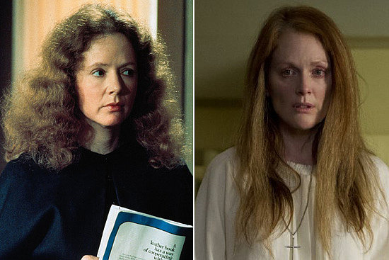 Margaret White Julianne Moore is taking over the role of Carrie's religiously fanatical mother originally played by Piper Laurie. Laurie has claimed she thought the character was so over-the-top during shooting that she assumed the movie was a comedy. Source: United Artists and Sony Pictures