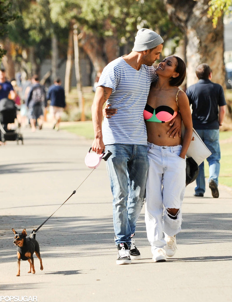 Kat Graham and Cottrell Guidry showed PDA.